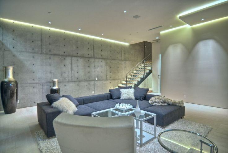 Indirekte Deckenbeleuchtung Fur Moderne Wohnzimmer Beton Freshouse