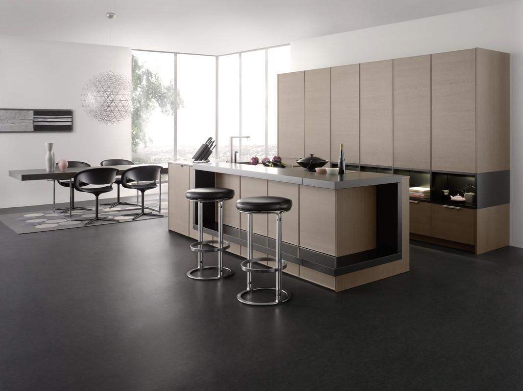 Designer küchen mit kochinsel holz  kochinsel aus holz für modernes küche design von LEICHT - fresHouse
