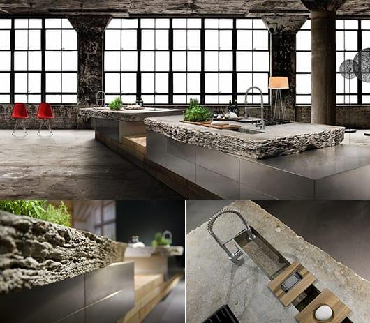 Naturstein Kueche Gestaltung Modern Ideen