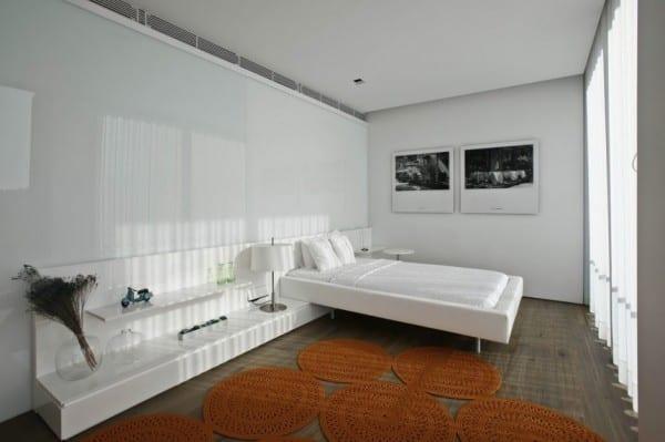 luxus design interior schlafzimmer mit modernes bett und. Black Bedroom Furniture Sets. Home Design Ideas