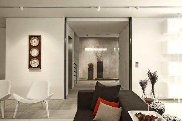 luxus interieur in schwarz wei und wohnidee flur mit. Black Bedroom Furniture Sets. Home Design Ideas