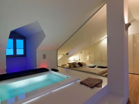 Luxus Schlafzimmer Ideen Für Gemütliches Schlafzimmer Mit Whirlpool  Badewanne