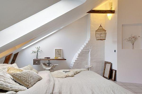 Entzuckend Luxus Schlafzimmer Ideen Für Modernes Schlafzimmer Mit Dachschräge Und  Schlafzimmer Design In Weiß