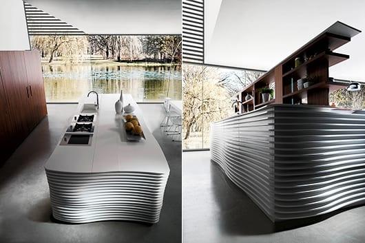 Moderne Küche Mit Kochinsel Weiß Von Cubodesign