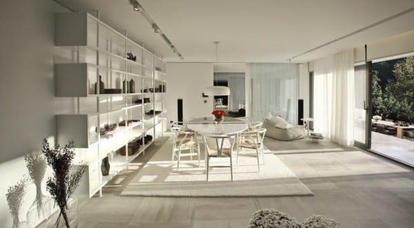 Schiebetüren Wohnzimmer moderne wohnzimmer einrichtung mit marmorbodenfliesen grau und