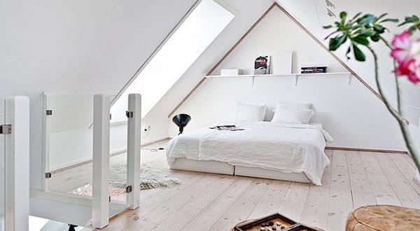 modernes schlafzimmer dachschr228ge mit dachfenster als