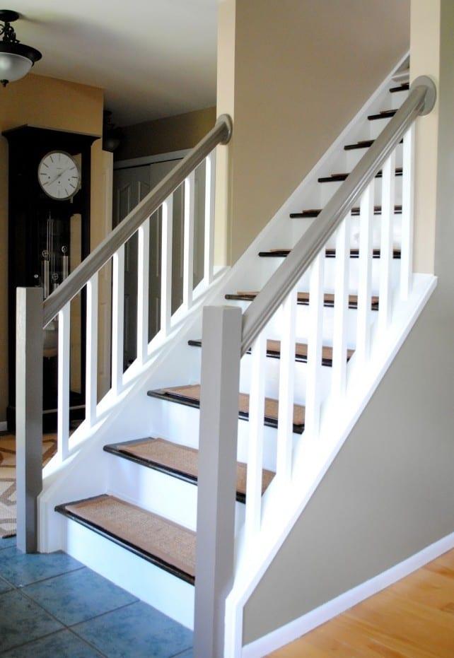 treppengel nder streichen in wei und hellgrau freshouse. Black Bedroom Furniture Sets. Home Design Ideas