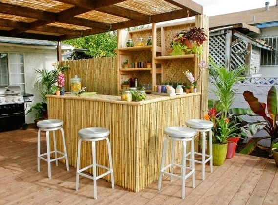 diy garten bar aus bambus freshouse. Black Bedroom Furniture Sets. Home Design Ideas