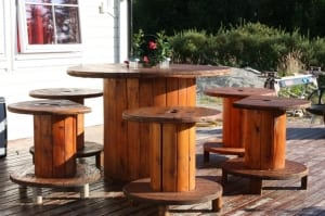DIY Terrassen- und Gartenmöbel aus kabelrollen