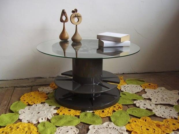 diy kabelrolle tisch f r kreatives interieuer design freshouse. Black Bedroom Furniture Sets. Home Design Ideas