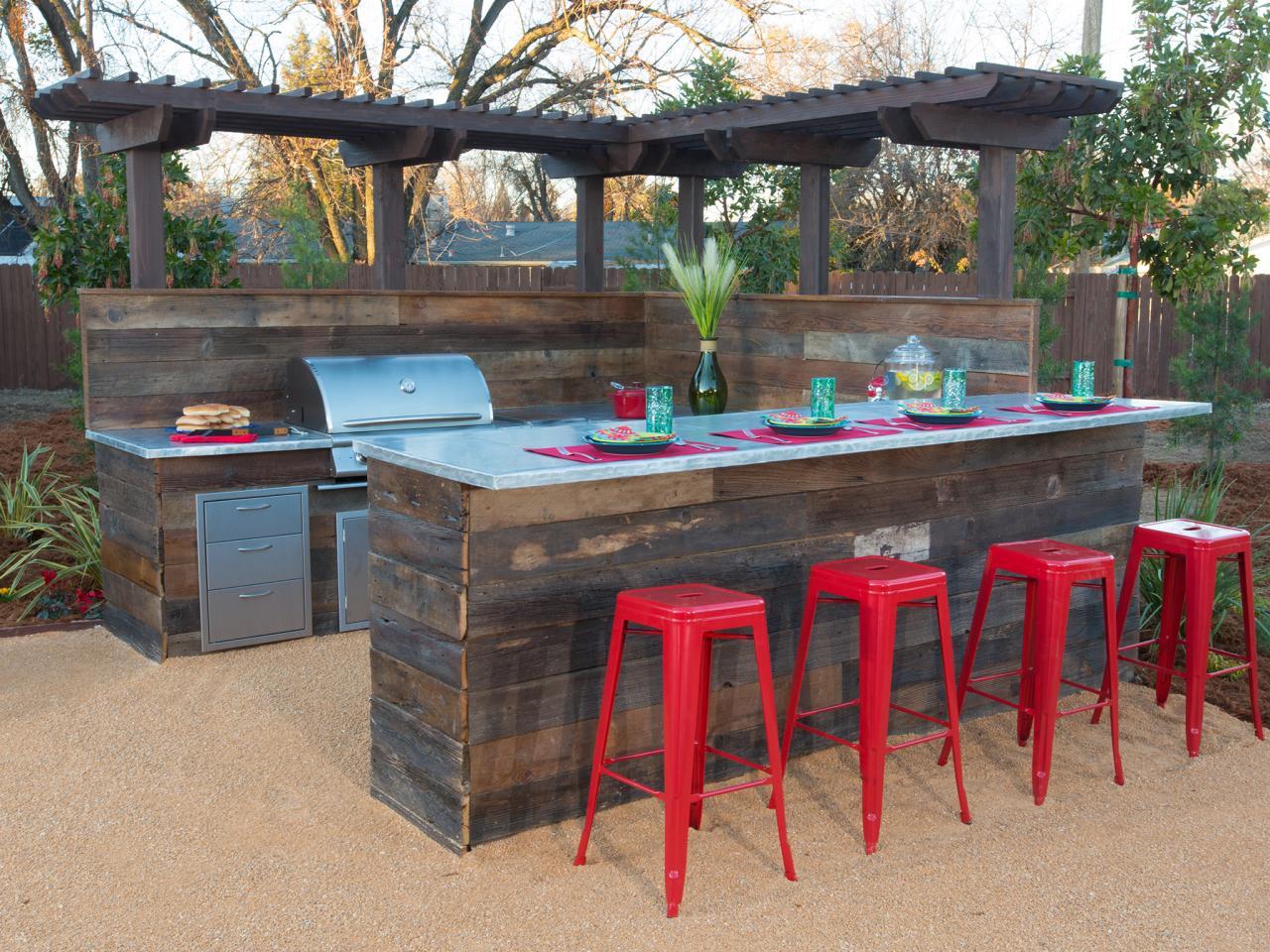 Garten bar mit k che selber bauen freshouse - Garten waschbecken selber bauen ...