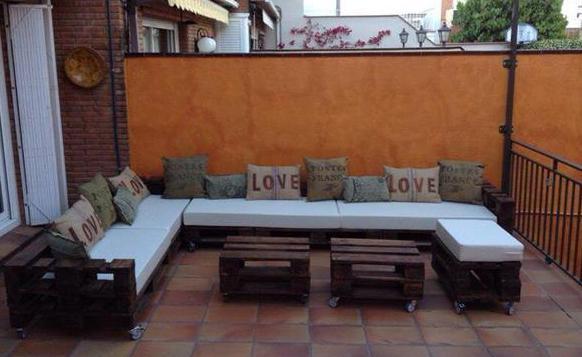 Terrassen Sitzecke sitzecke aus paletten für coole terrasseneinrichtung freshouse