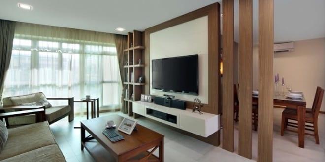 tv wandpaneel aus holz als raumteiler freshouse. Black Bedroom Furniture Sets. Home Design Ideas