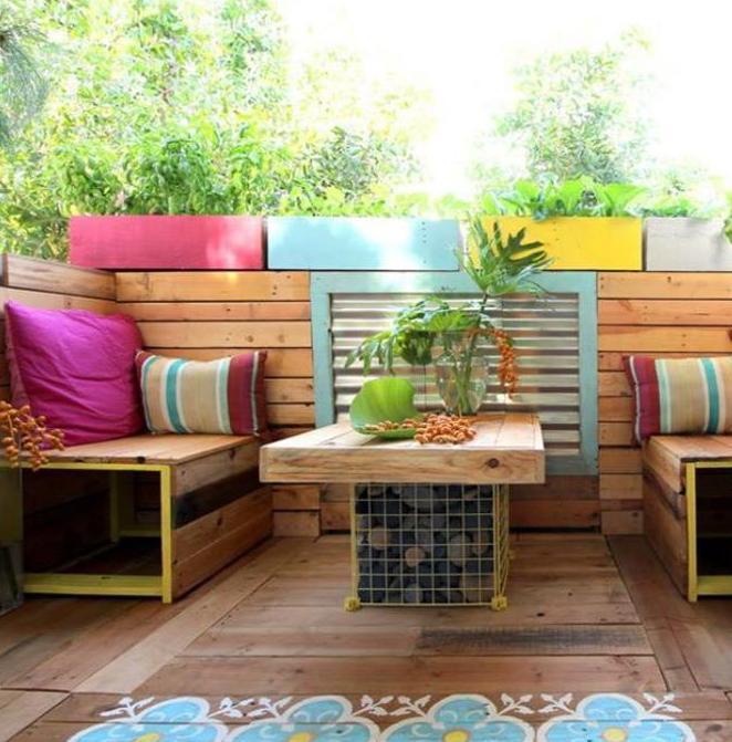 Balkon Und Terrasse Gestalten Mit Palettenmobel Freshouse