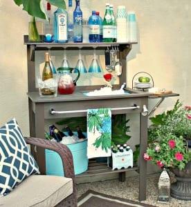 bauen Sie selber Garten Bar mit waschbecken