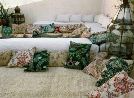 bodenkissen für marrokanische Terrassengestaltung