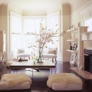 bodenkissen weiß für stylische raumgestaltung