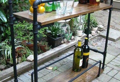 coole DIY Gartenmöbel aus Holz und Leitungsrähren