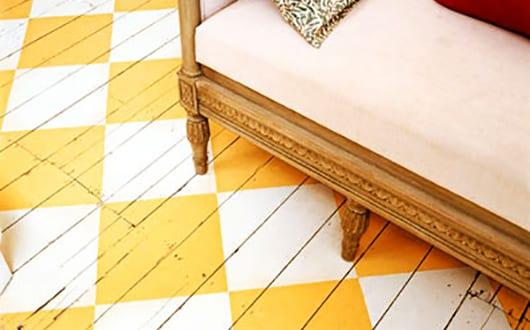 Holzfußboden Farbig Streichen ~ 55 kreative streichen ideen für holzbodenbelag freshouse
