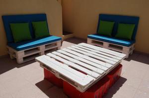 coole idee für terrasseneinrichtung mit Terrassenmöbel aus paletten