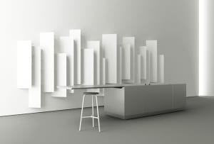 moderne weißen Hochregalen als bücher-wandregalen und als Küchenregale für moderne Küche Einrichtung
