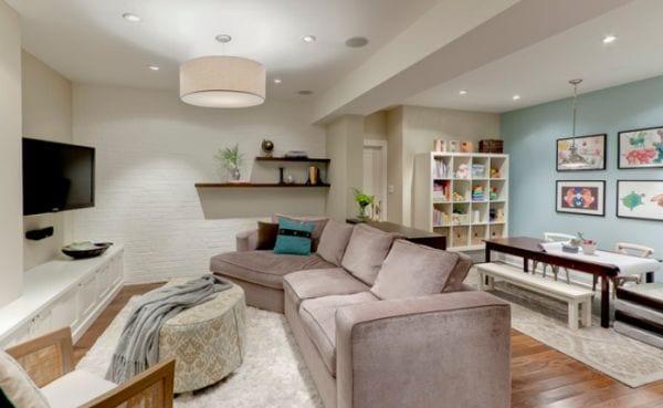 coole wohnidee für wohnzimmer im keller - fresHouse