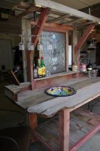 garten bar rustikal selber bauen aus holz