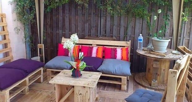 Gartenm bel aus paletten selber bauen zum terrasse einrichten freshouse - Gartenmobel aus paletten bauen ...