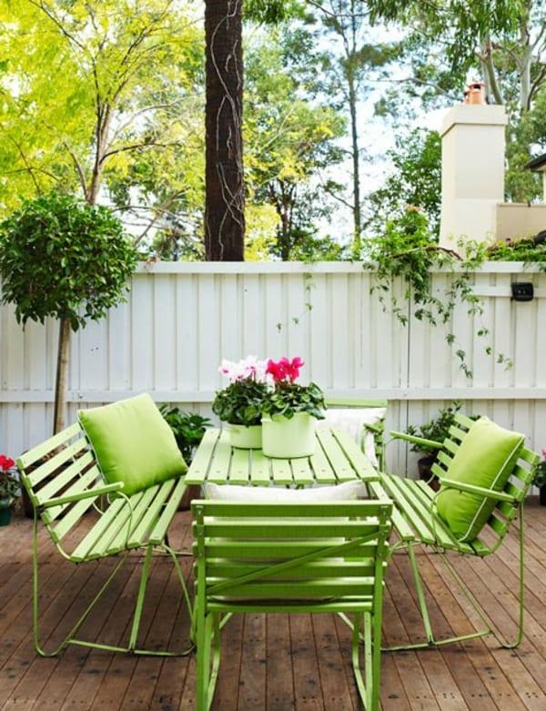 Gartenm bel streichen idee in gr n freshouse - Wohnzimmer streichen idee ...