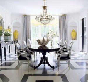 holzboden in schwarz-weiß streichen für luxus wohnzimmer interior