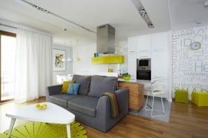 kleine küche und modernes apartment design von  Widawscy Studio Architektury