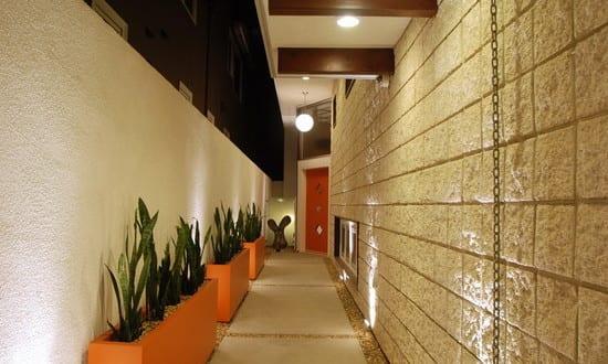 Narrow Corridor Concrete Pathway Jetson – Seal Beach Interior Design