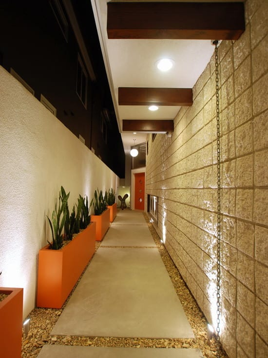 Narrow Corridor Concrete Pathway Jetson - Seal Beach Interior Design ...