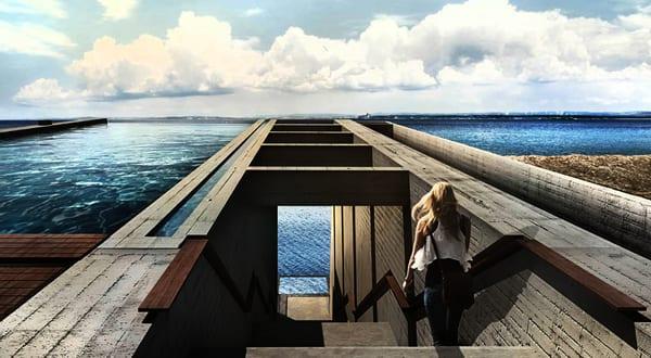 Luxus Residenz aus Beton an der Küste