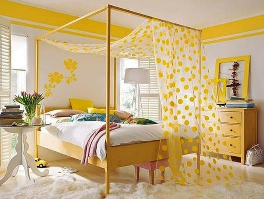 31 Elegant Schlafzimmer Wand Streichen Ideen: Möbel-streichen-idee-in-gelb-als-einrichtungsidee