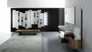 minimalistische-badezimmer-mit-modernen-badezimmermöbel-von-boffi-und-elegante-wandregalen-stile