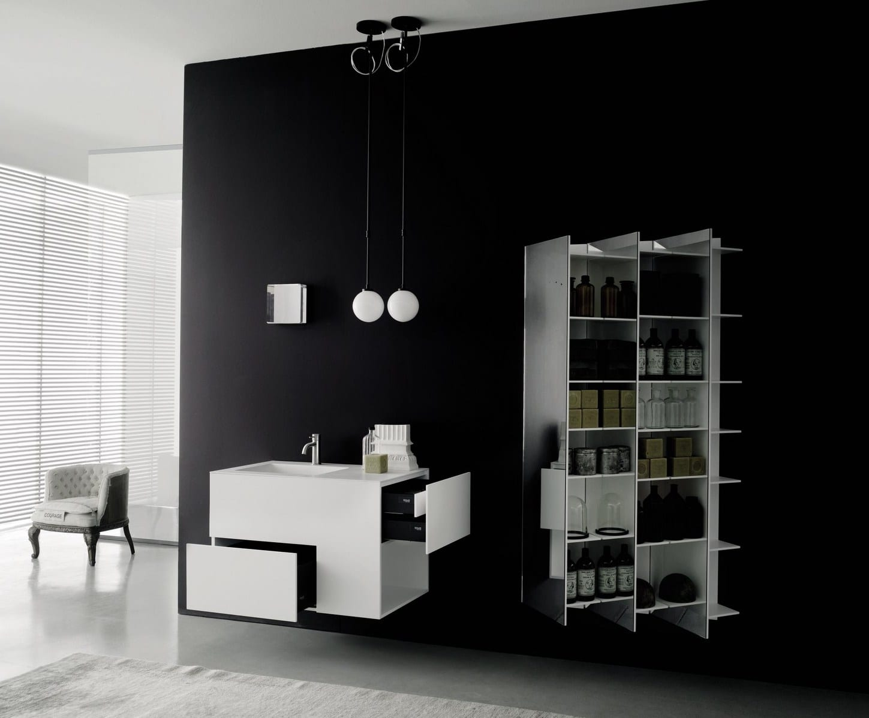 Moderne badezimmer wandregale wei als badezimmer spiegelschrank freshouse - Moderne wandregale ...