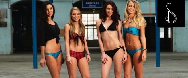 moderne damen-badeanzüge mit alarm-bikini