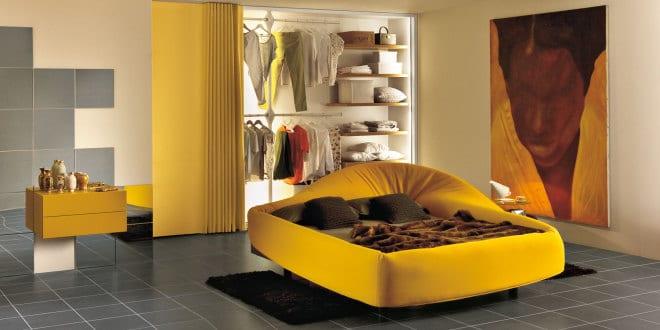 Moderne Einrichtungsideen Für Minimalistische Schlafzimmer In Gelb