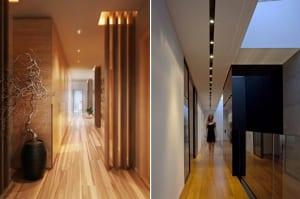 moderne-minimalistische-flurgestaltung-mit-holz-und-deckenbeleuchtung