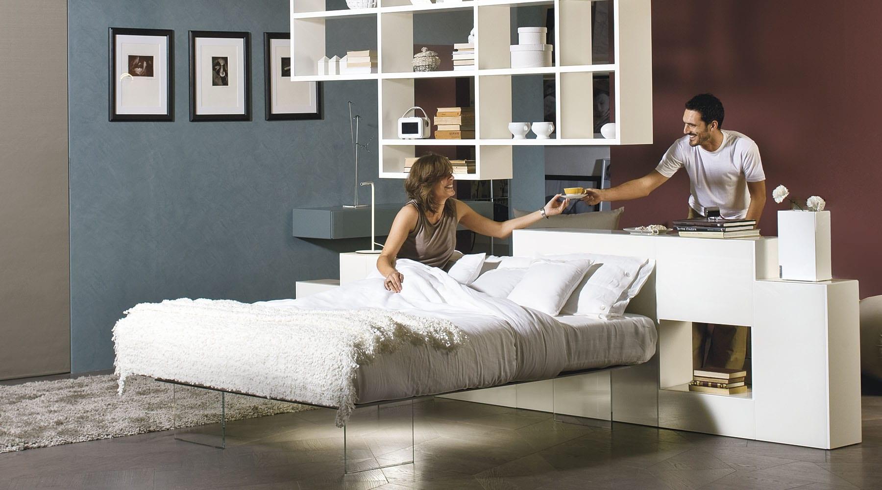 Moderne schlafzimmer zum minimalistisch wohnen als interessante