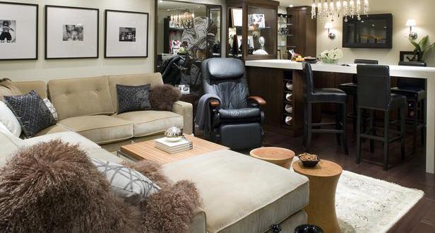 moderne wohnzimmer als coole wohnidee für den keller