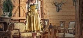 designer oktoberfest dindl in goldgelb als inspiration für moderne oktoberfestkleider