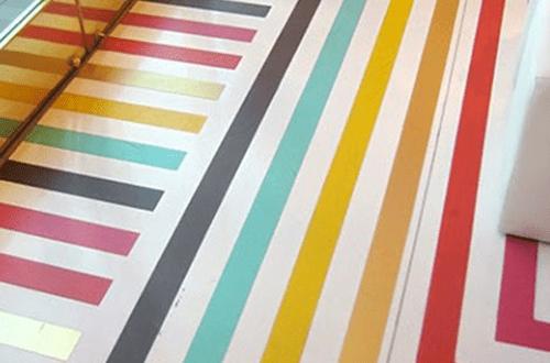streifen streichen idee für Holzboden