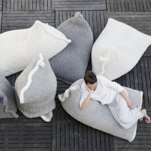 strick-Bodenkissen für skandinavisches design
