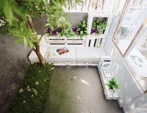 terrasseneinrichtung mit DIY Terrassenmöbel aus paletten