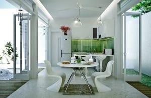 ultra-moderne-kleine-küche-weiß-mit-spritzwasserschutzglas-grün