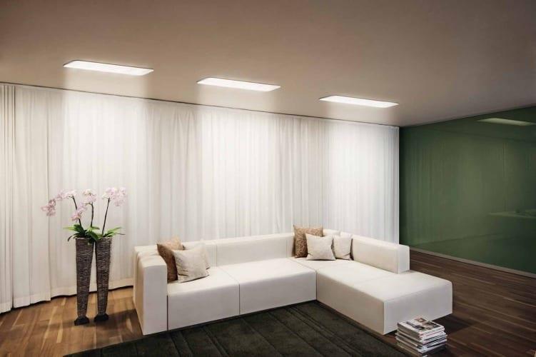 wohnzimmer Beleuchtung mit LED Deckenleuchten von Osram - fresHouse