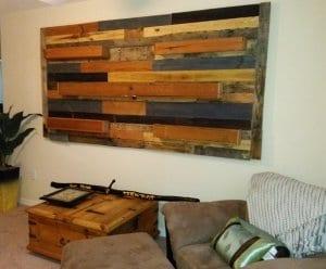DIY Wanddeko aus Paletten