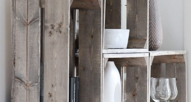DIY Wandregal rustikal aus paletten
